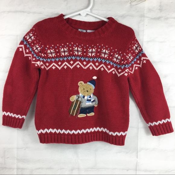 Bowen   Wright Other - Boys Christmas sweater 3T Red bear Nordic fairisle e5cf20227